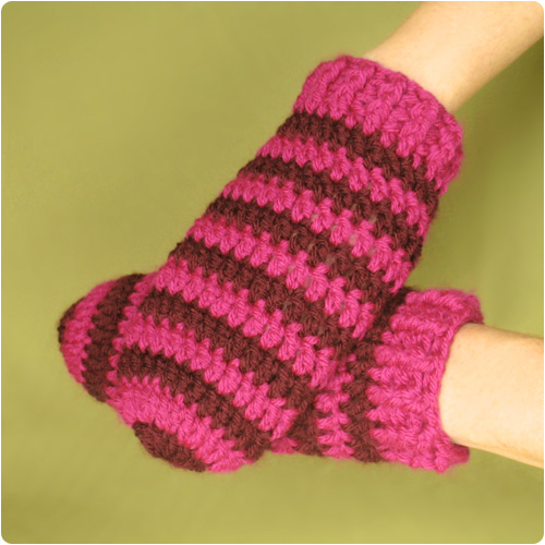 Crochet Mitten Patterns For Beginners : Free Crochet Pattern: Thumbless Mittens