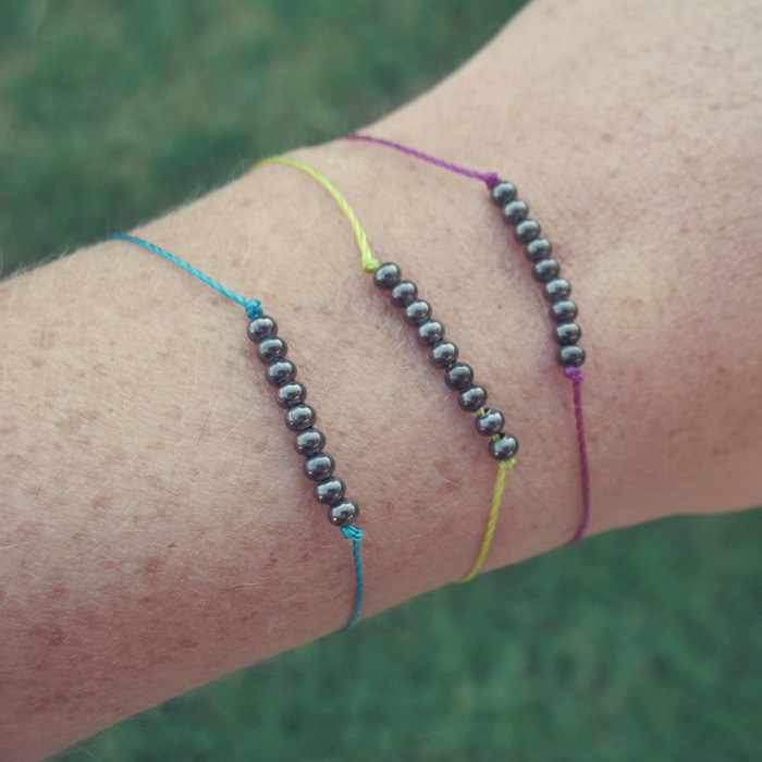 DIY Dainty Metal Beaded Bracelets Tutorial