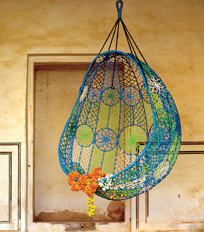 Gallery for how to make macrame jhula - Make a macrame hanging chair ...