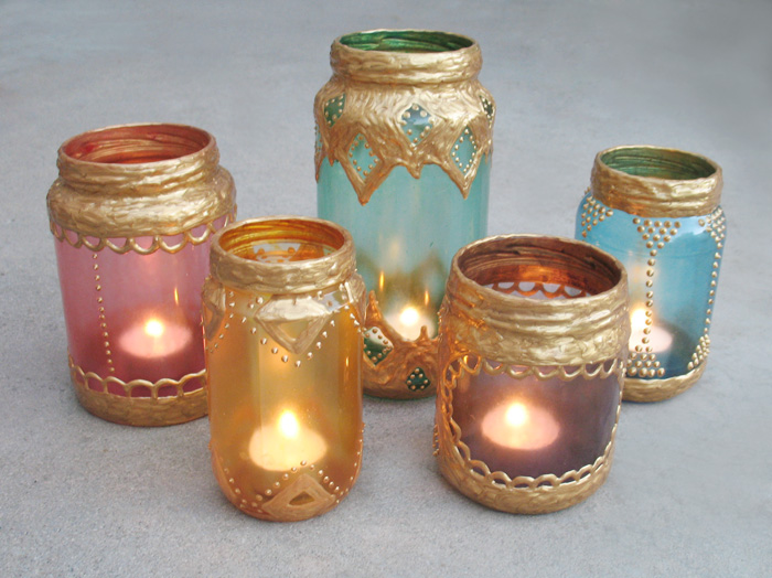 diy faux moroccan lanterns from old jars