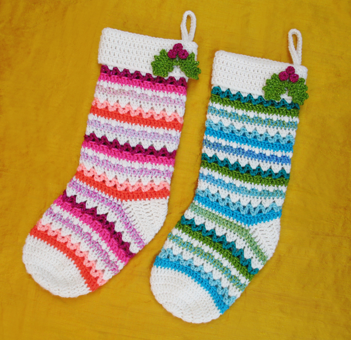 Fabulously Festive Christmas Stockings Free Crochet Pattern