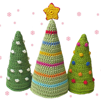 Tutorial Round Up Crochet Christmas Tree Patterns