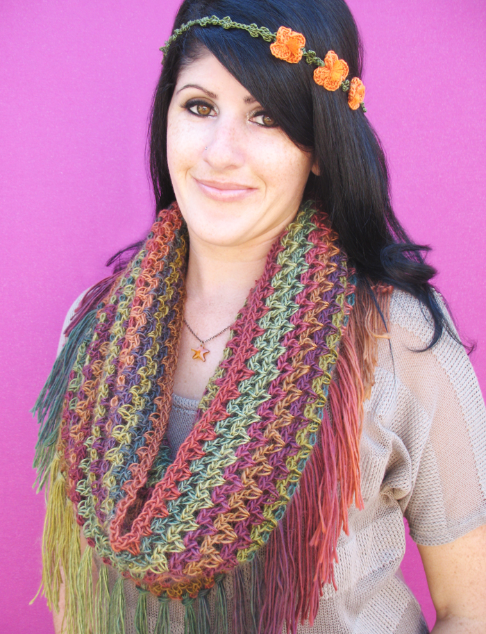 Mountains Cowl Free Crochet Pattern