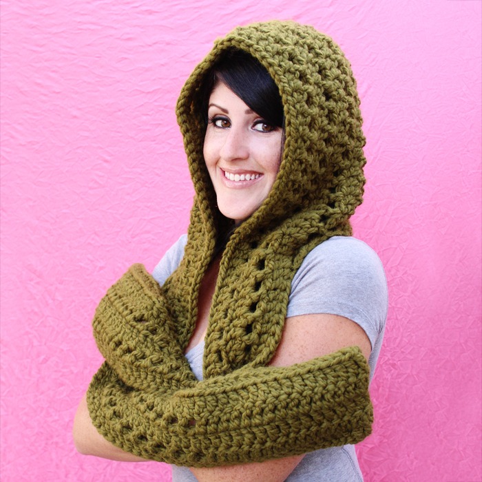 Free Knit Scoodie Pattern : New Crochet Pattern: The Fireside Scoodie
