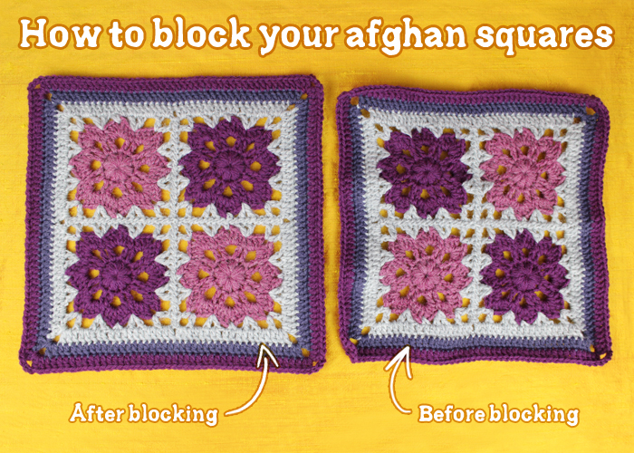 Crochet Blocking : ... crochet along the perfectionist in me was desperately wanting to block