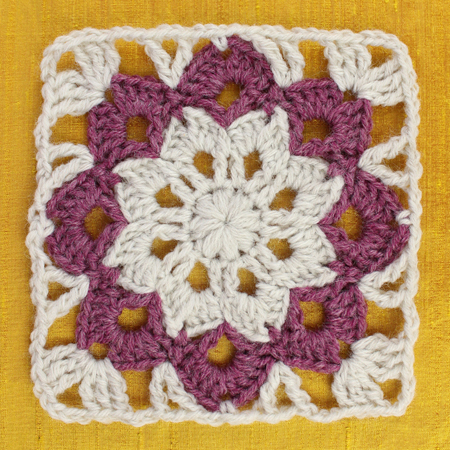 Floral Kaleidoscope Afghan Square Free Crochet Pattern