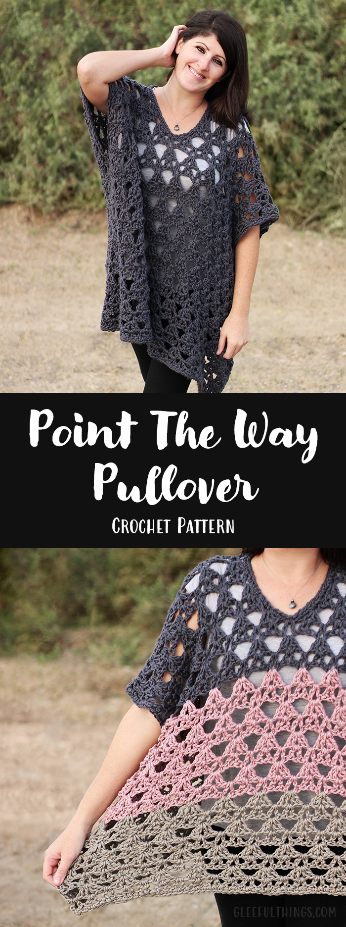Point The Way Pullover Crochet Pattern