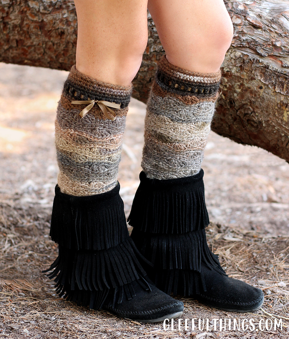 Wilderness Leg Warmers Crochet Pattern