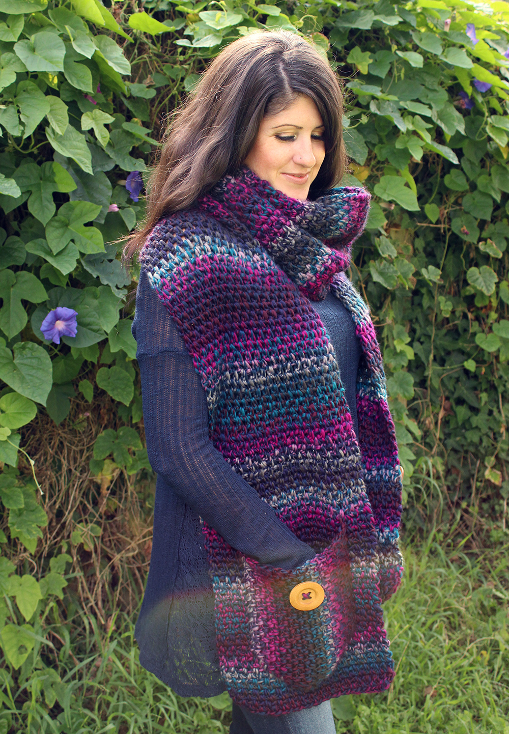 Free Crochet Patterns Using Bulky Weight Yarn : Free Crochet Pattern: Amethyst Scarf