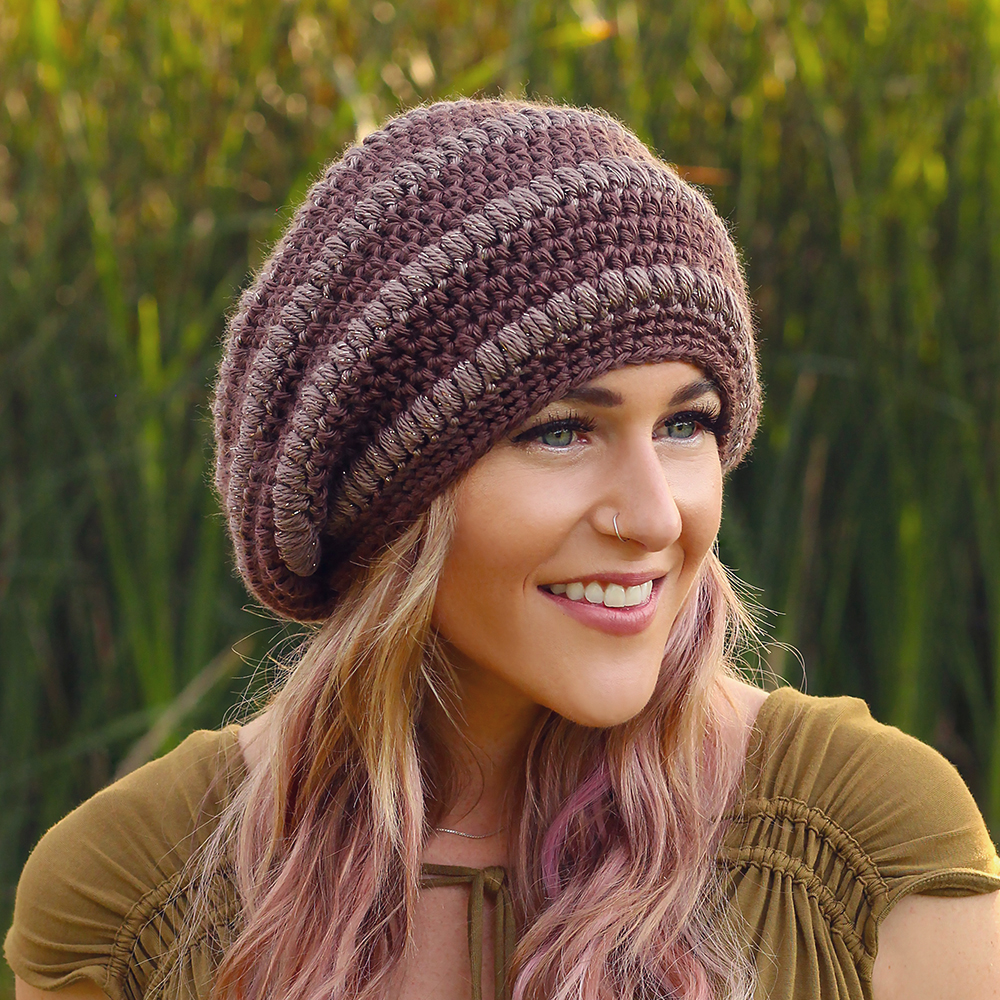The book is called Crocheted Beanies   Slouchy Hats and it contains 31  patterns for beanies f9a1a8ce2cd